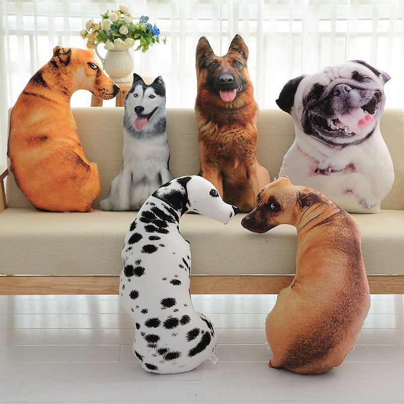 3D simulation of curved shar dog plush cushions office nap washable plush toy dog group