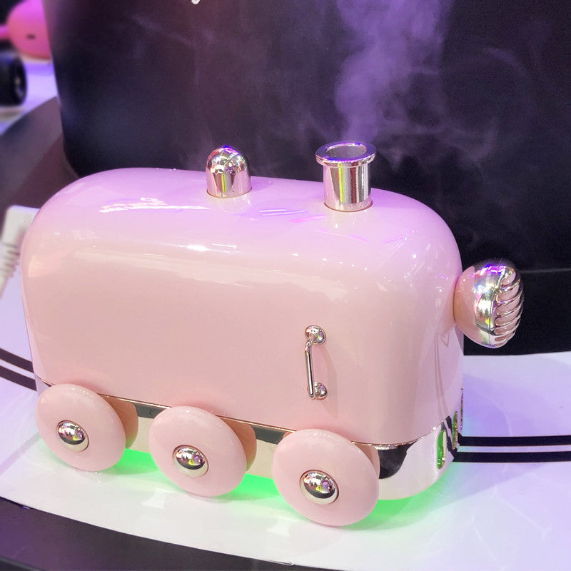 Small train humidifier new home retro mute mini usb