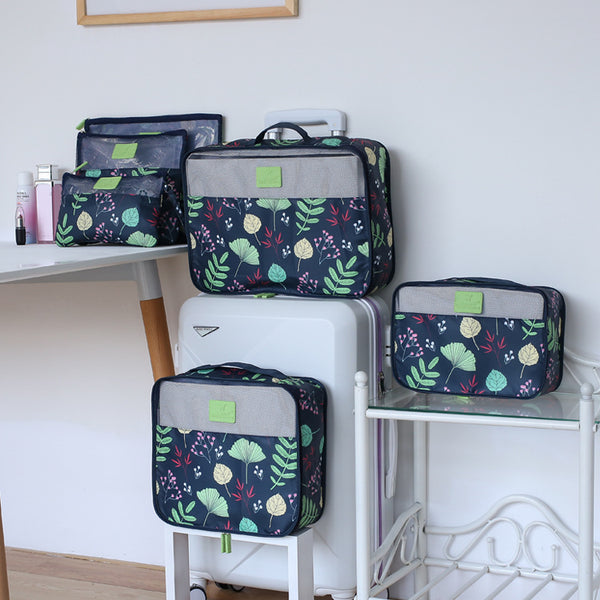 Travel storage bag set of six
