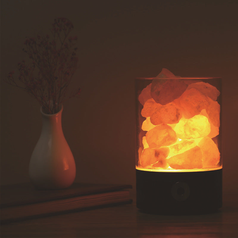 USB Crystal Light Himalayan Salt LED Lamp