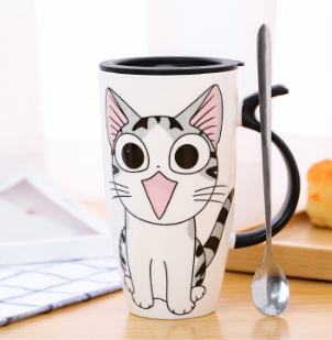 Large Cute Cat Tail Mug