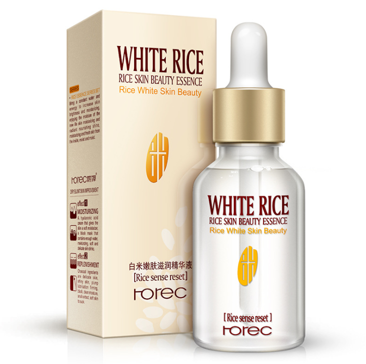 HOREC White Rice Whitening Serum Face Moisturizing Cream Anti Wrinkle Anti Aging Face Fine Lines Acne Treatment Skin Care 15ml (15ml)