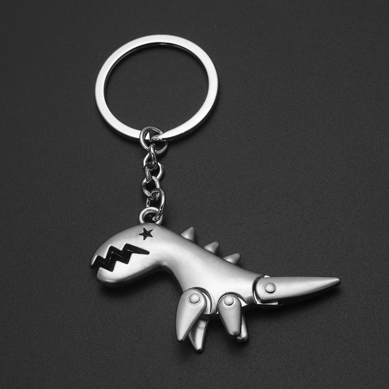 Metal Dinosaur Key Ring