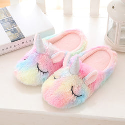Unicorn indoor cotton slippers