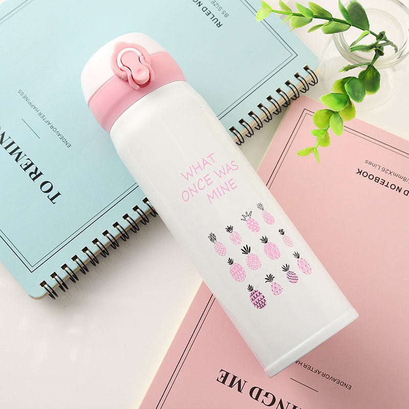 500ml Flamingo Reusable Vacuum Flask