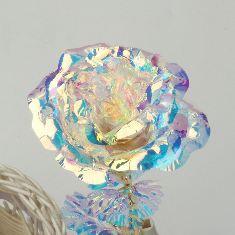 Color gold color luminescent gold foil rose