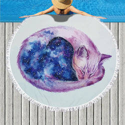 Universe Cat Beach Towel