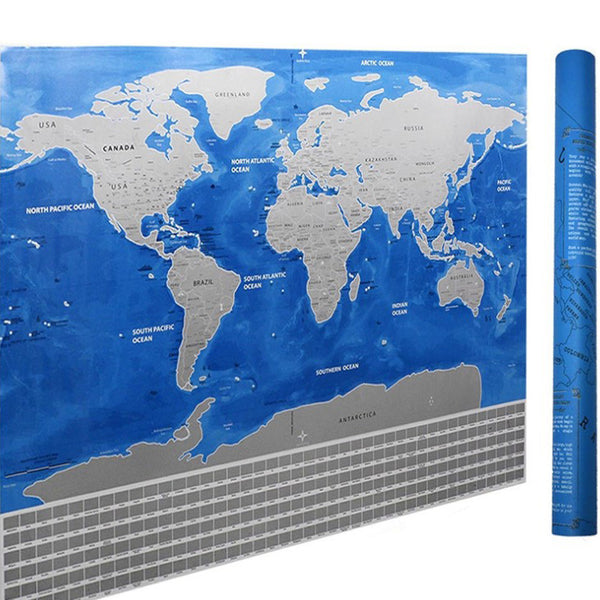 Blue Ocean Deluxe Scratch Travel Map