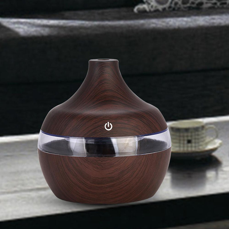 Home Office 300ml USB Electric Aroma air diffuser wood Ultrasonic air humidifier Essential oil Aromatherapy cool mist maker