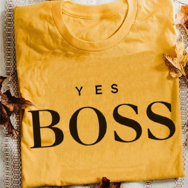 Yes Boss Cotton T-Shirt