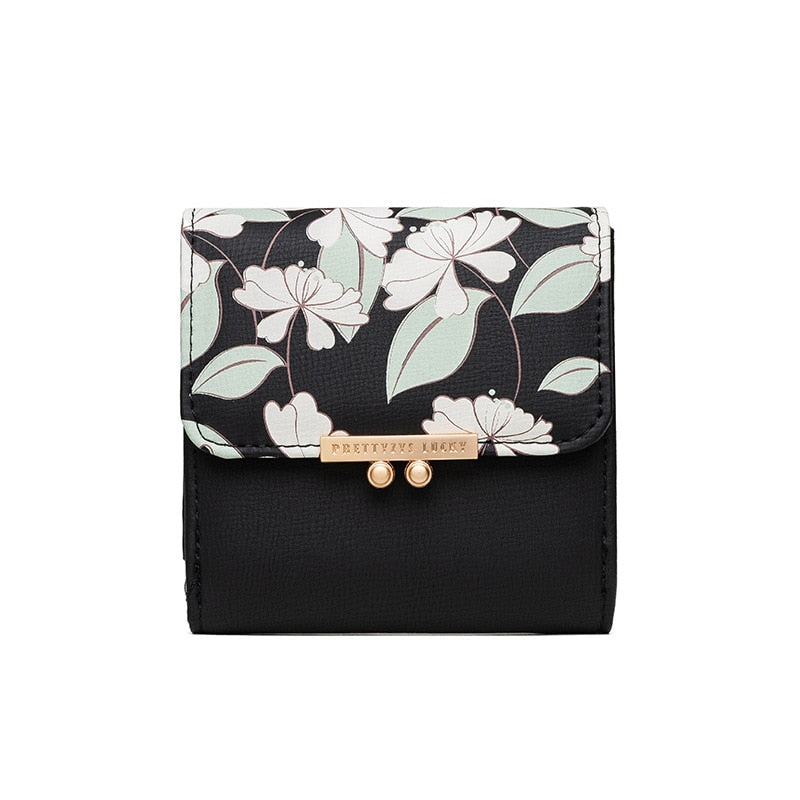 Floral Short Style Fashion Wallet