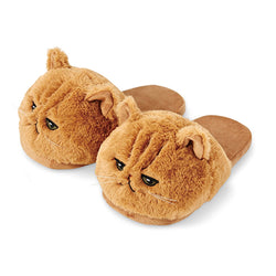 Millffy Cute Unisex Kids Girls 3D Big Head Realistic Kitty Cat Womens Plush Fuzzy Slippers Ladies home Slippers
