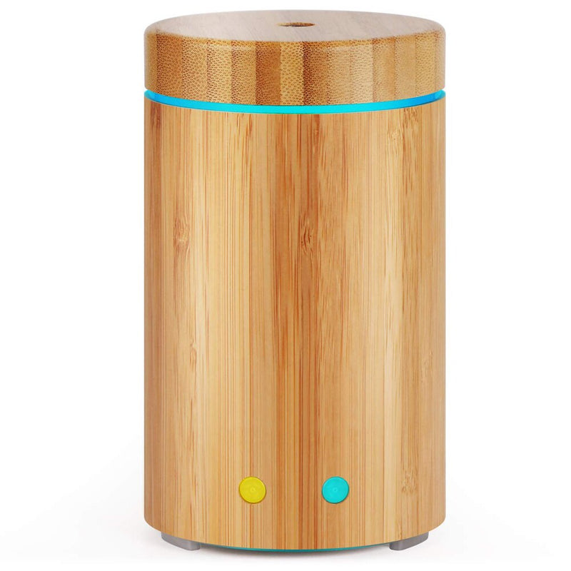 Bamboo Essential Oil Diffuser Ultrasonic Aroma Aromatherapy Mist Humidifier Waterless Auto Off 7 Color LED Light Humidificador