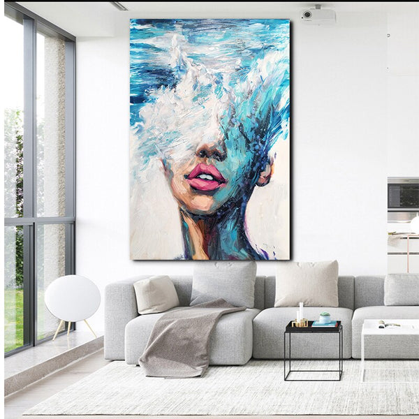 Handpainted Abstract Art Poster Prints Characters Oil Painting On Canvas Art Gift Home Decoration Living Room Wall Art Pictures