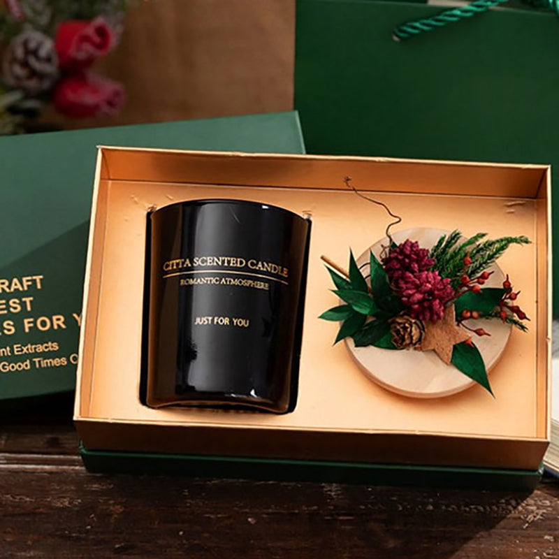 Scented candles creative smokeless soy wax immortal flower gift box glass with hand gift set Scented candles Home decoration G3