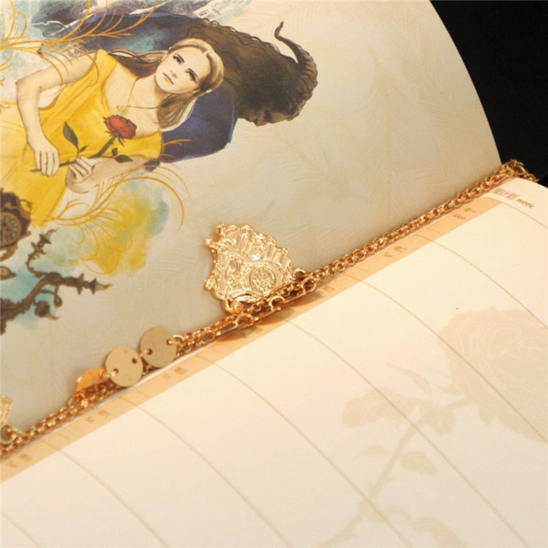 Beauty And Beast Disney Hand Account Book Suit School Opens Stationery Disney Suit Partner Hand Gift