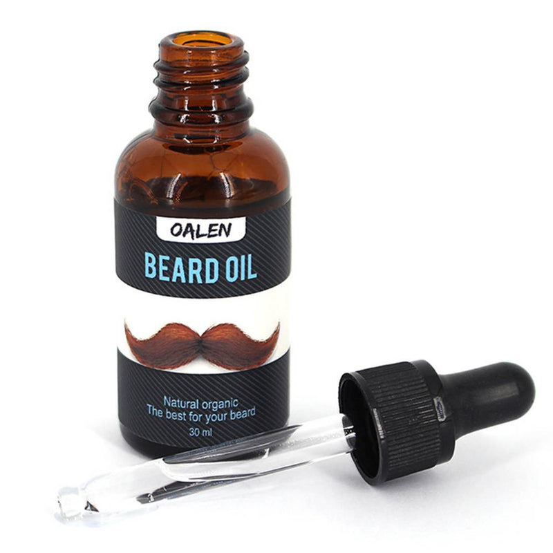 Men Beard Oil Balm Moustache Wax Set for Styling Beeswax Moisturizing Smoothing Gentlemen Beard Care Healthy Moustache Wax