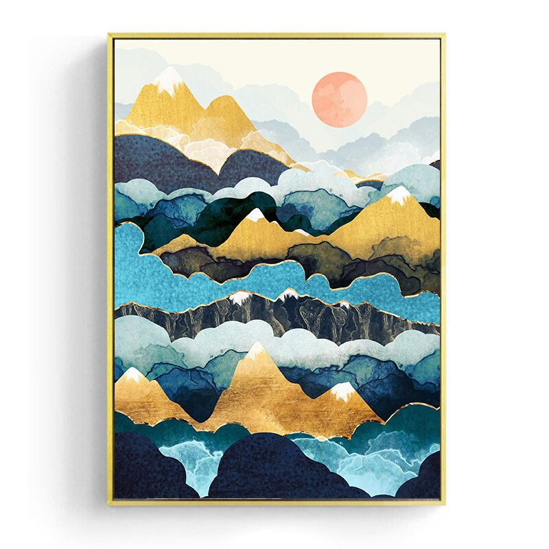 Mt Peaks Canvas Art Prints - No Borders or Frame