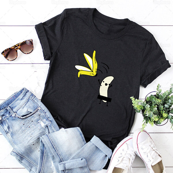 Banana Striptease Novelty T-Shirt
