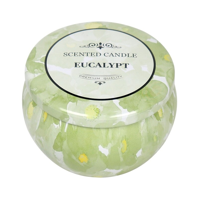 Aromatherapy Floral Tin Cup Candles