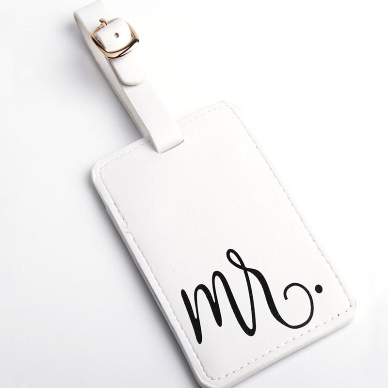 Embroidered Mr & Mrs Luggage Travel ID Tags