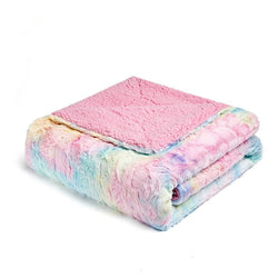 Rainbow Super Soft Fleece Travel Blanket