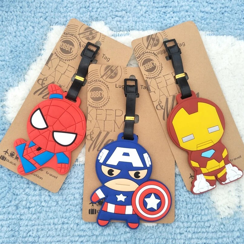 Travel Accessories Iron Spider Luggage Tags Animal Cartoon Silica Gel Suitcase ID Addres Holder Baggage Boarding Portable Label