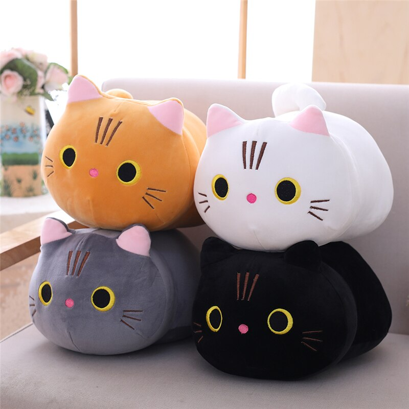 Cartoon Soft Cat Plush Toy Children's Toy Sofa Pillow Cushion Down Cotton Padded Toy Gift Children's Room Decoration