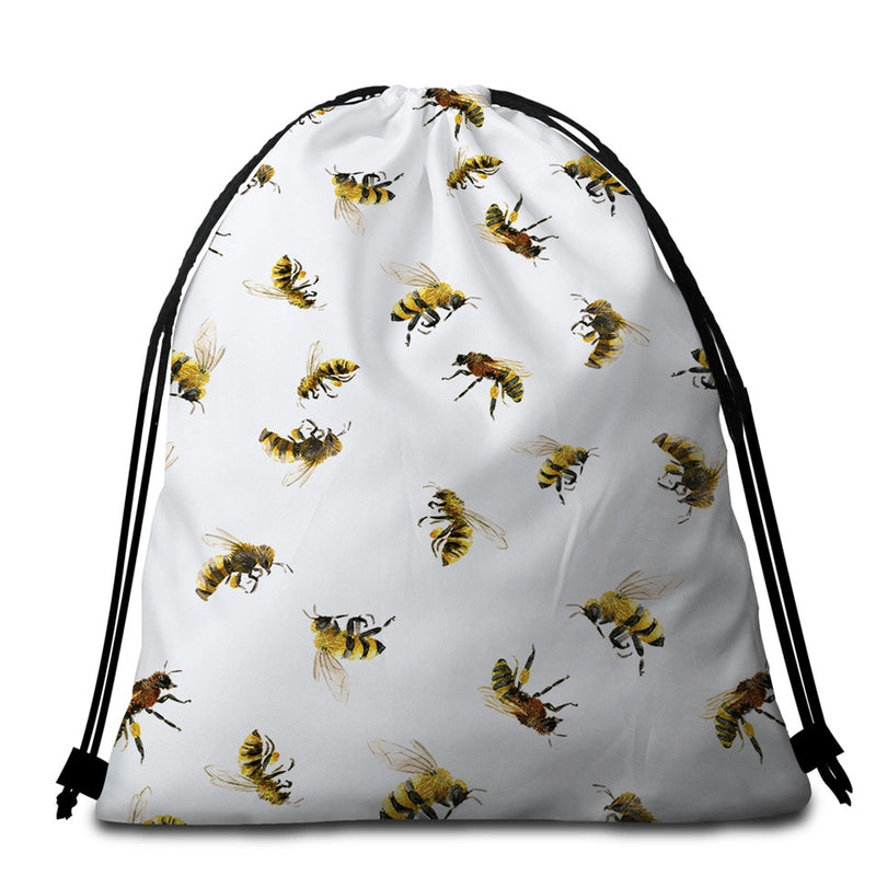 Honey Bee Beach Towel + Bag
