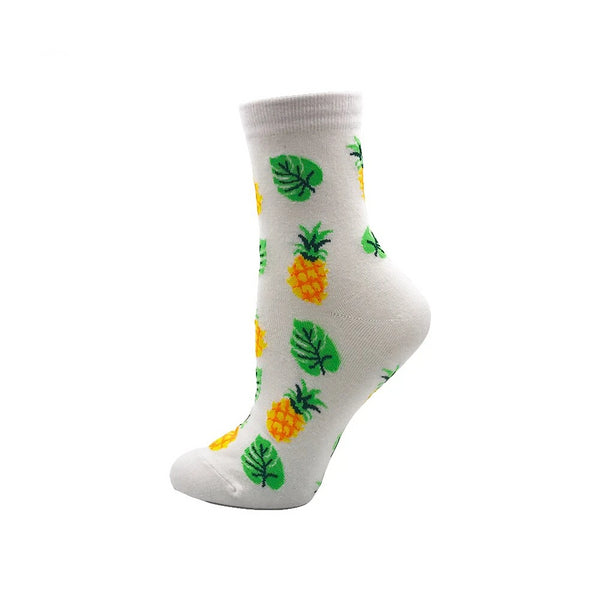 VPM Women's Dress Socks Funny Flower Fruit Cute Japanese Novelty Harajuku Sock for Girl Gift Box (5 pairs / lot )