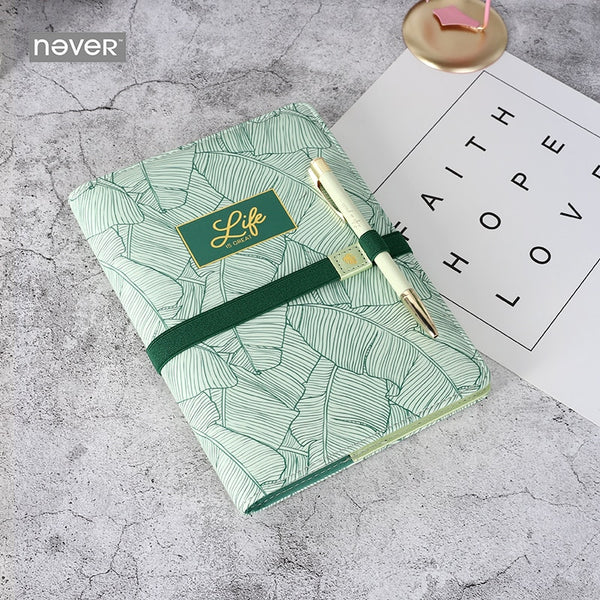 Plants Series Stationery set bts accessories teachers gift Notebook pen and pen holder business Stationery kit supplies