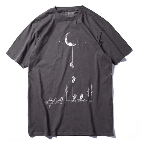 Astronaut Moon Team Novelty Cotton T-Shirt