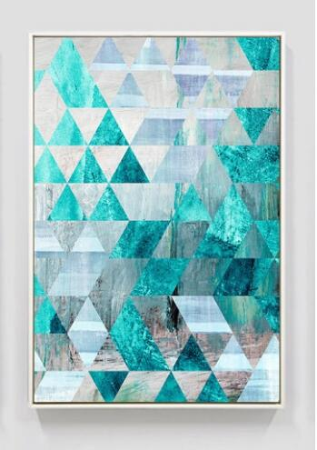 Geometric Turquoise Canvas Art Prints - No Borders or Frame
