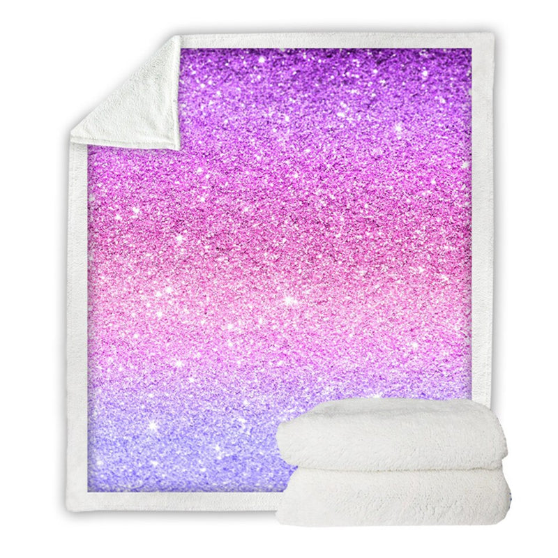 BeddingOutlet Shining Stars Microfiber Bed Blanket Pink and Violet Throw Blanket for Woman Girls Home Textiles mantas 150x200cm