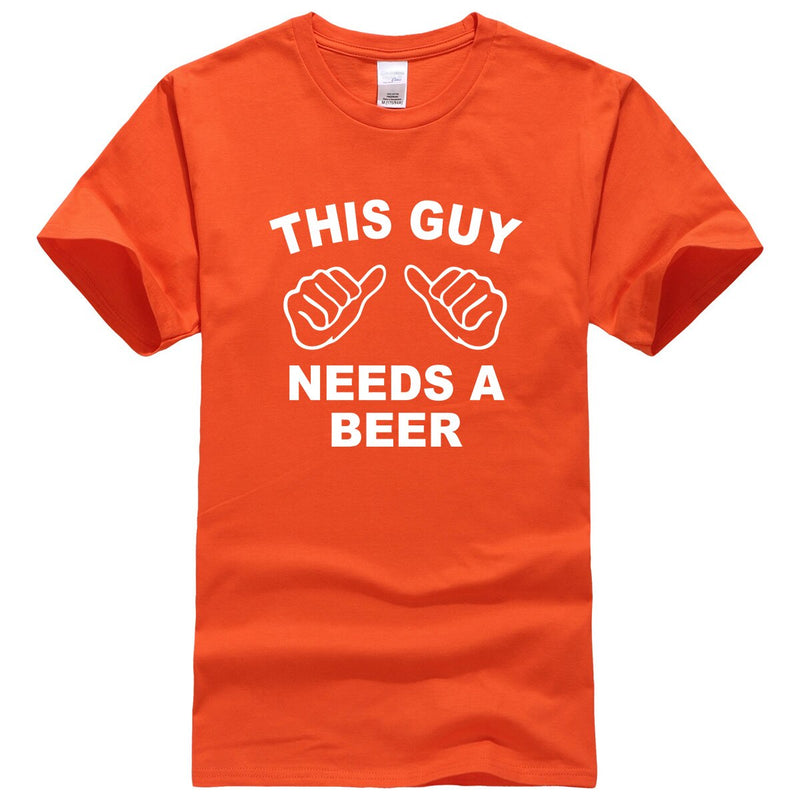 This Guy Needs A Beer Novelty Cotton T-Shirt