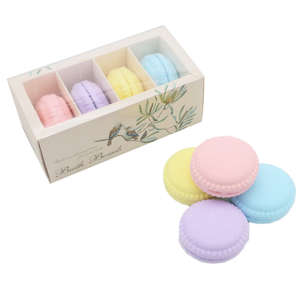 Macaron Bath Bombs salt Organic Bath Bomb Gift Set Kit Strawberry Mouthwatering Cupcake Exfoliating bathing explosive salt