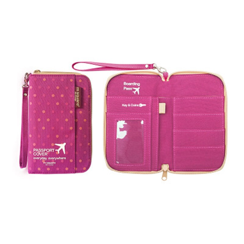 Compact Travel Passport Organiser