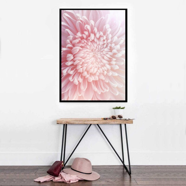 Pink Chrysanthemum Canvas Painting Elegant Flower Wall Art Posters and Prints Nordic Texture Picture for Living Room Decoration