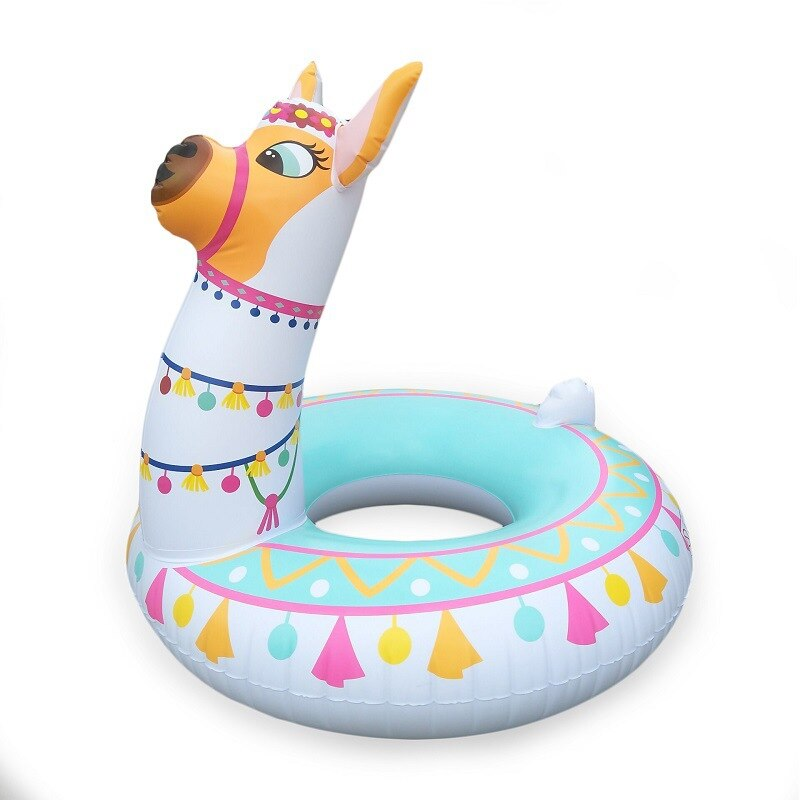 120cm Alpaca Glitter Swimming Ring INS Hot 2019 Newest Pool Float Adult Children Lifebuoy Air Mattress Water Beach Toys boia
