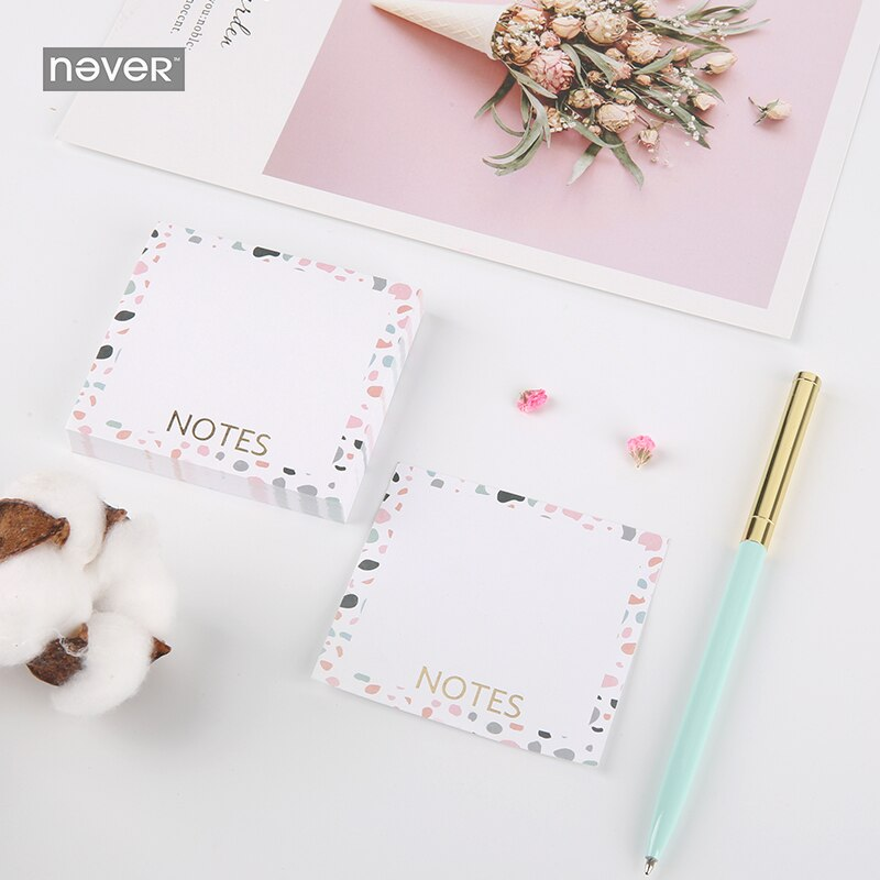 Never Pink Series Stationery Set Band Clips Memo Pad Pencil Bookmark Office Accessories Gift Box Packing School Stationery Sets