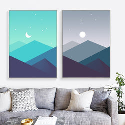 Mountain Landscape Canvas Painting Posters And Prints Abstract Art Nordic Poster Wall Pictures For Living Room Decor