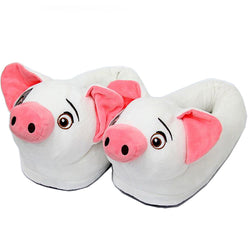 White Piggy Slippers