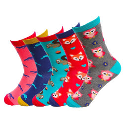YEADU Funny Cotton Warm Women's Socks Cartoon Fox Owl Autumn Winter Colorful Crew Sock High Quality for Girl Gift