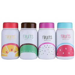 ZOOOBE Colored fruit Thermo Mug Drinkware Kids Milk Coffee Water Bottle Insulated Thermos Vacuum Cup Stainless Steel Child Gift