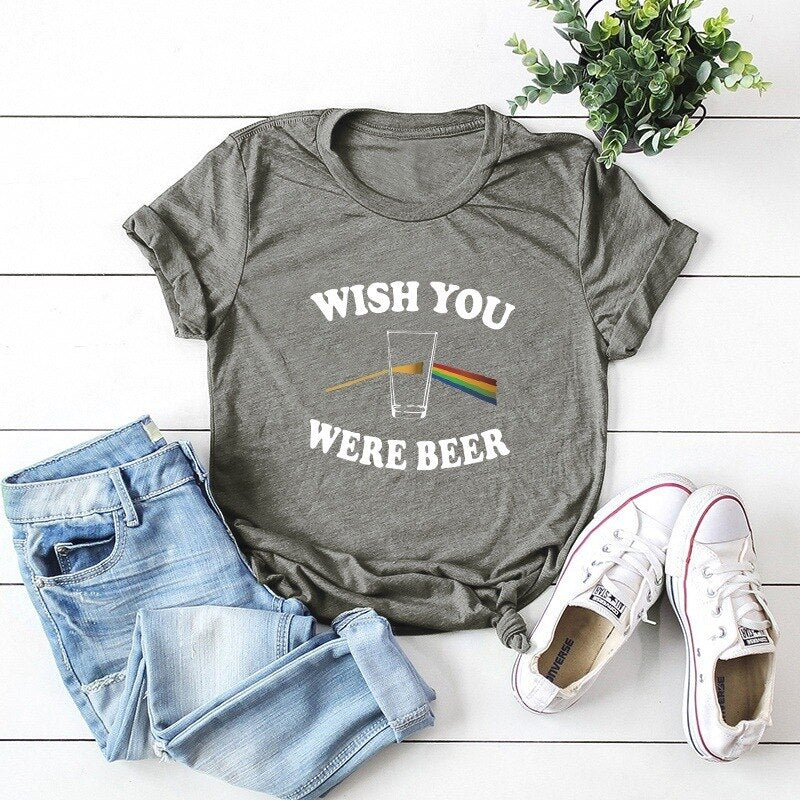 Letter women tee shirt harajuku 100% cotton short sleeves o-neck basic print t shirt summer larger size Korean Style Tops S-5XL