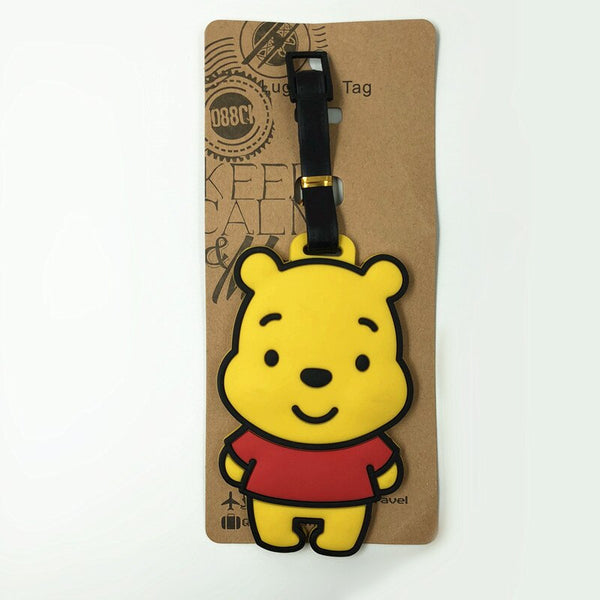 2018 New Koffer Tigger Donkey Cartoon Cute Travel Luggage Tag Id Address Holder Baggage Label Silica Gel Identify Accessories