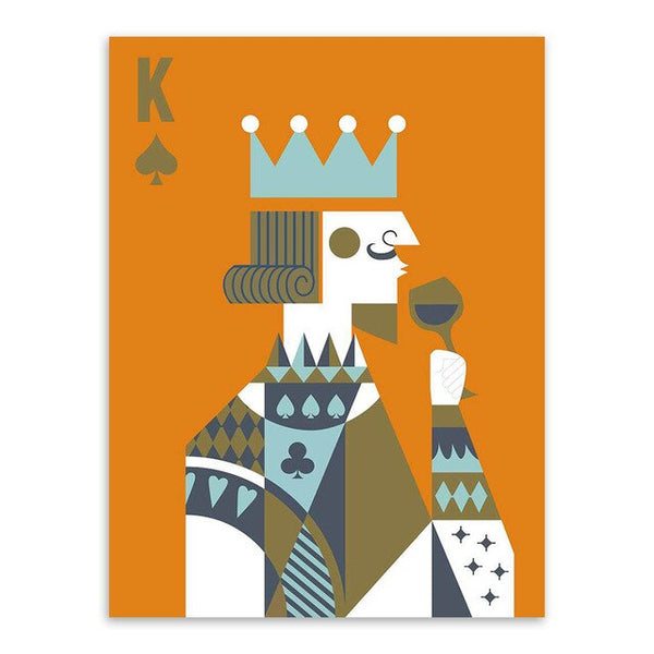 Couples King and Queen Card Canvas Art Prints - No Borders or Frame
