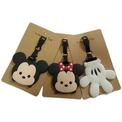 New Micky Minie Luggage Tag Travel Accessories Portable Fashion Cartoon TSUM ID Address Baggage Labels Suitcase Boarding Tags