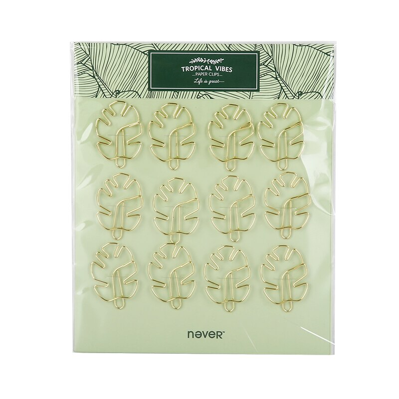 Tropical Plant Paper Clip Set