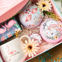 OUSSIRRO Birthday Gift INS Send Girlfriend Gift Flamingo Mug Rose Tea Chrysanthemum Tea Roselle tea Gift Package L2222